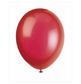 Ballonnen rood  10 stuks