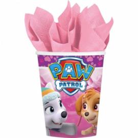 Paw Patrol bekers roze 8st 266ml