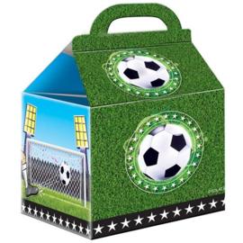 Voetbal traktatie doosjes 9x14cm 4 stuks