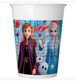 Frozen 2 bekers plastic 8st 200ml