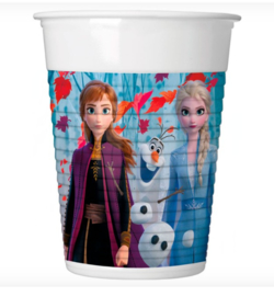 Frozen 2 bekers plastic 8st 200ml