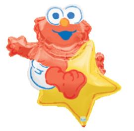 Elmo op ster folie ballon 81cm