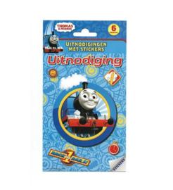Thomas de trein uitnodigingen met stickers