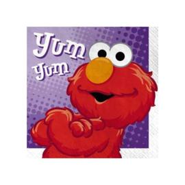 Elmo Sesamstraat servetten 16 stuks 25x25cm