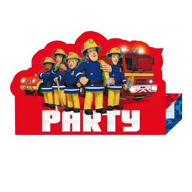 Brandweerman Sam uitnodigingen 8 stuks