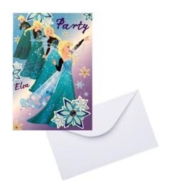 Frozen Elsa uitnodigingen 5 stuks