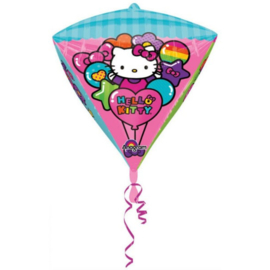 Hello Kitty folie ballon kubusvormig 43cm