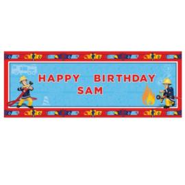 Brandweerman Sam banner polyester 120x45cm