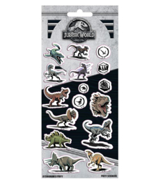 Jurassic World stickervel puffy 10x22cm