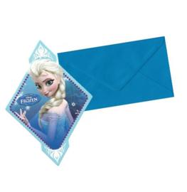 Frozen uitnodigingen 6 stuks
