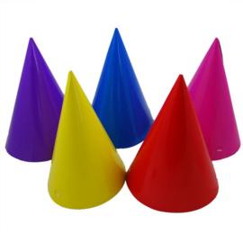 Feesthoedjes gekleurd 8 stuks