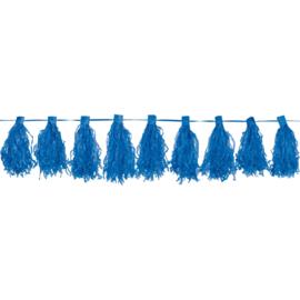 Slinger blauw met kwasten 3m