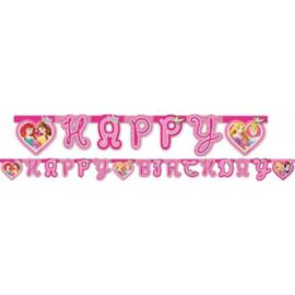 Prinsessen letterslinger Happy Birthday 1,75m
