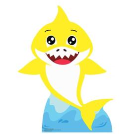 Baby Shark decoratie karton met standaard 93cm