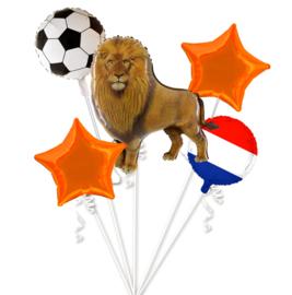 Oranje EK voetbal folie ballonnen set
