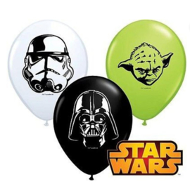 Star wars ballonnen mini 5 stuks 13cm