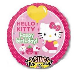 Hello Kitty folie ballon met muziek 71cm