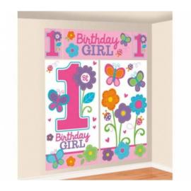 Eerste verjaardag decoratie banner meisje