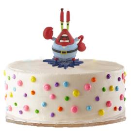 Spongebob mr krabs taart versiering 6cm