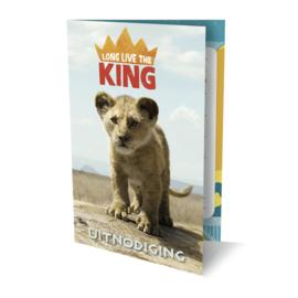 The Lion King uitnodigingen 6 stuks