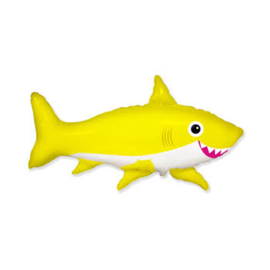 Happy Shark folie ballon geel 75cm