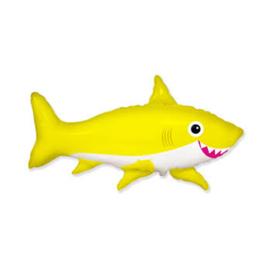 Happy Shark folie ballon op stok 35cm
