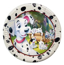 101 Dalmatiërs borden 8 stuks 20cm