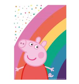 Peppa Pig uitdeelzakjes plastic 8 stuks