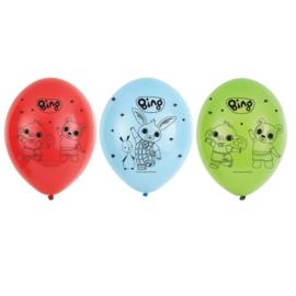 Bing konijn ballonnen 6 stuks