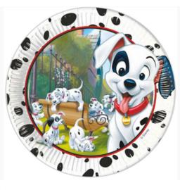 101 Dalmatiers borden 8 stuks 23cm