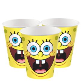 Spongebob bekers 8 stuks 266ml