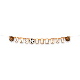 Oranje voetbal KNVB letterslinger 1,6m