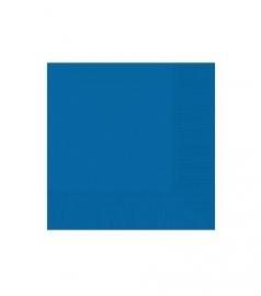 Servetten blauw 20 stuks
