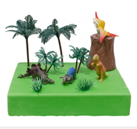 Dinosaurus taart versiering set