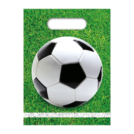 Voetbal uitdeelzakjes 6 stuks