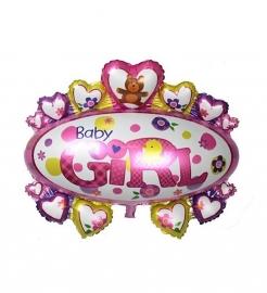 Baby folie ballon luifel meisje