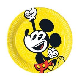Mickey Mouse borden 8 stuks 20cm