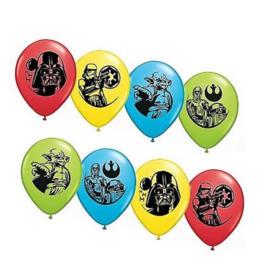 Star Wars ballonnen 6 stuks 30cm