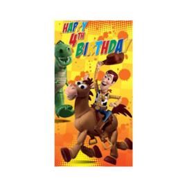 Toy Story verjaardagskaart 4 jaar