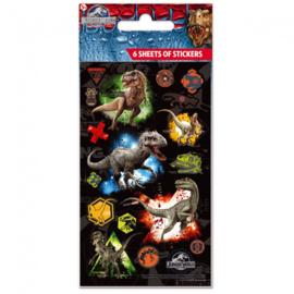 Jurassic World stickers 6 vellen