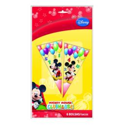 Mickey Mouse snoepzakken 6 stuks