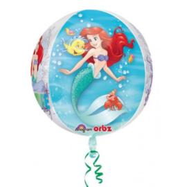 De kleine zeemeermin heliumballon rond