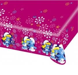 Smurfen Smurfin tafelkleed plastic 120x180cm