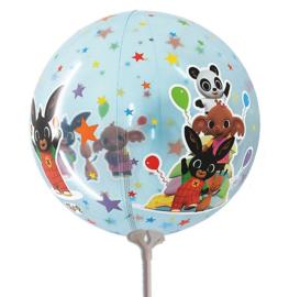 Bing ballon doorzichtig op stok 23cm