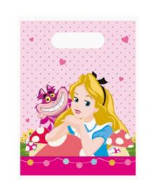 Alice in Wonderland feestzakjes 6 stuks