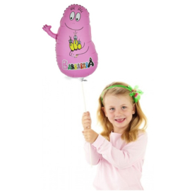 Barbapapa folie ballon op stok 30cm
