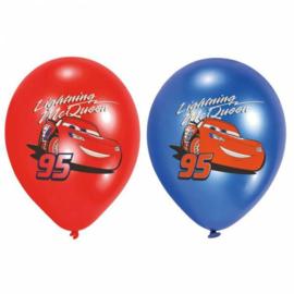 Cars ballonnen 6 stuks 28cm