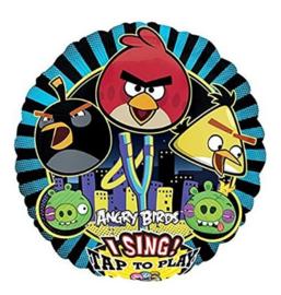 Angry Birds folie ballon met muziek 71cm