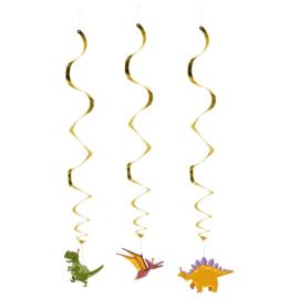 Dinosaurus hangdecoratie 3 stuks