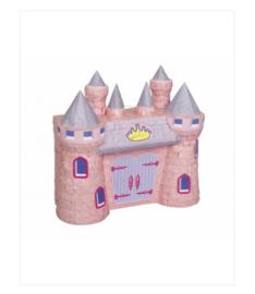 Pinata kasteel roze 42x29cm.